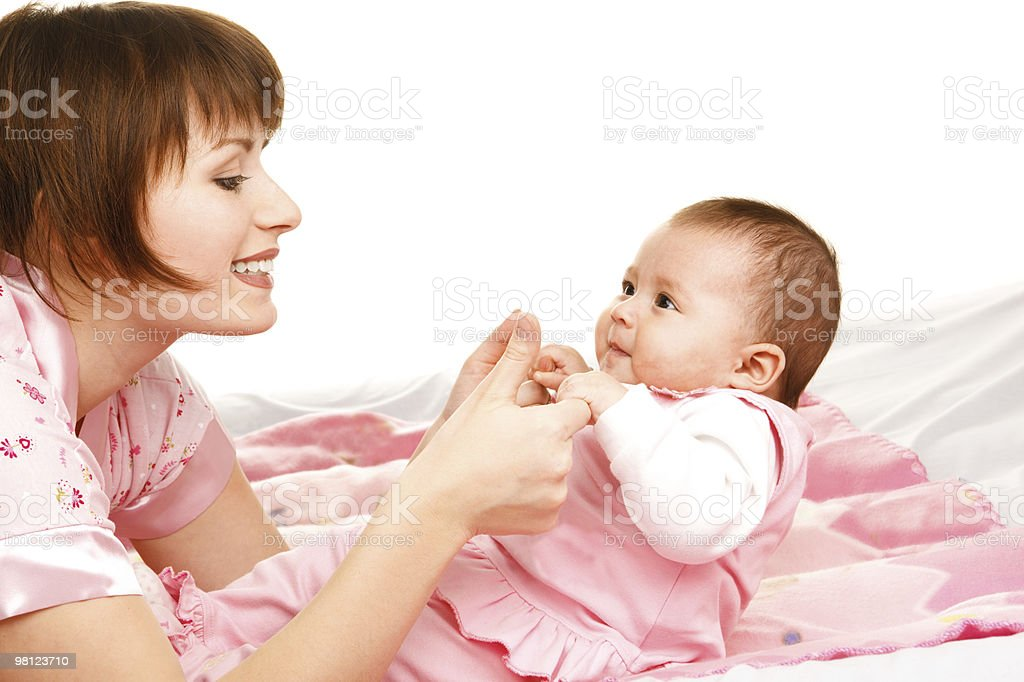 Mom with infant royalty-free stock photo