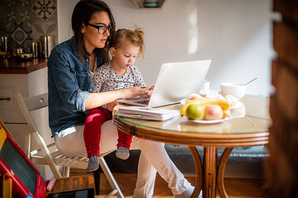 mom working from home - busy stock photos and pictures