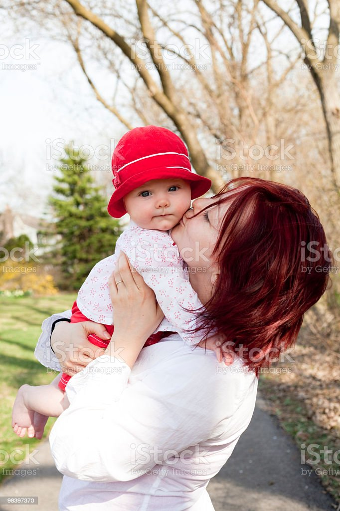 Mom's lovely baby girl royalty-free stock photo