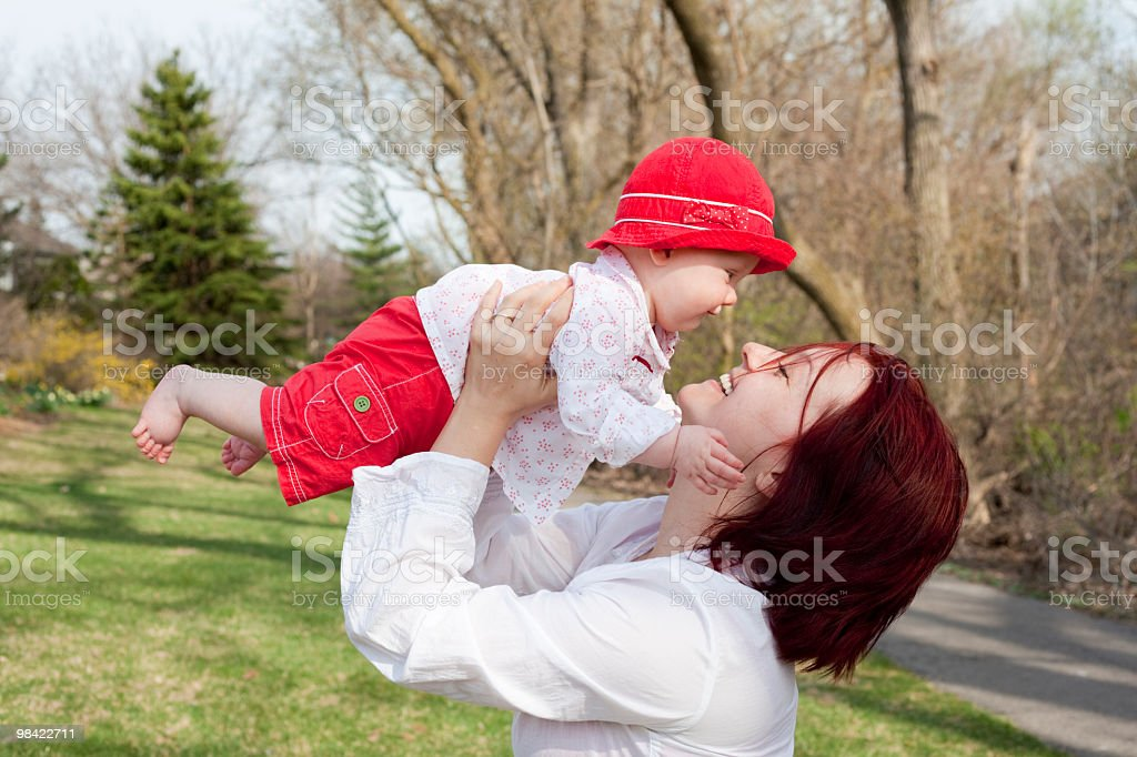 Mom's lovely baby girl royalty-free stock photo