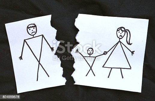 istock mome with son divorce father drawing 824559578