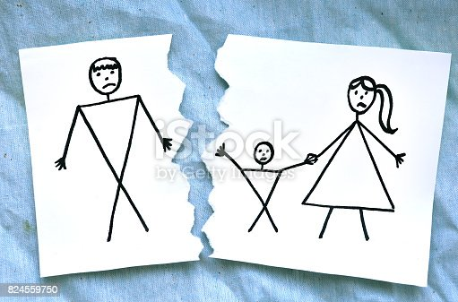 istock mome with son divorce father drawing 824559750