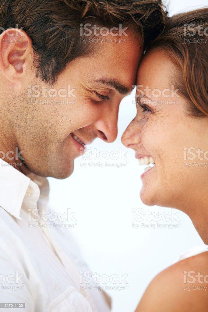 Moment between lovers stock photo