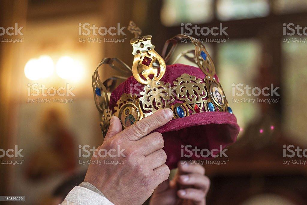 Moment of coronation stock photo
