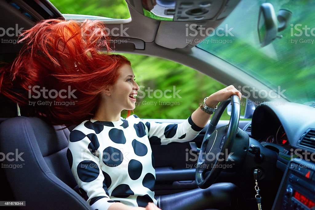 moment of freedom and travel stock photo