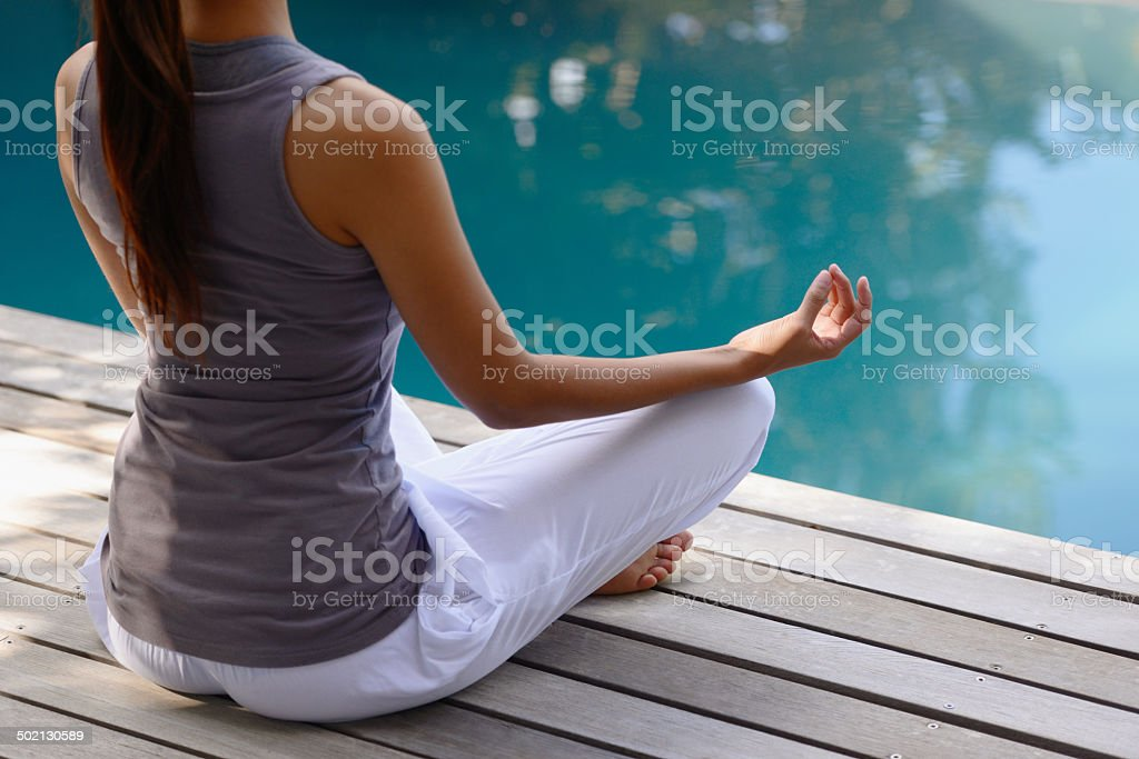 Moment of reflection stock photo