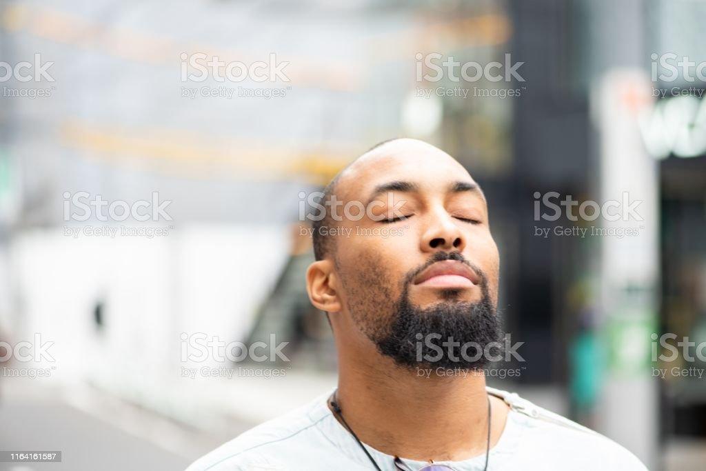 Een moment van sereniteit - Royalty-free Afro-Amerikaanse etniciteit Stockfoto