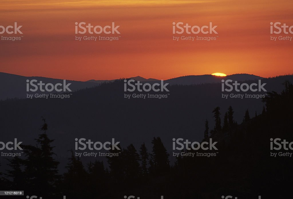Moment of Sunrise stock photo