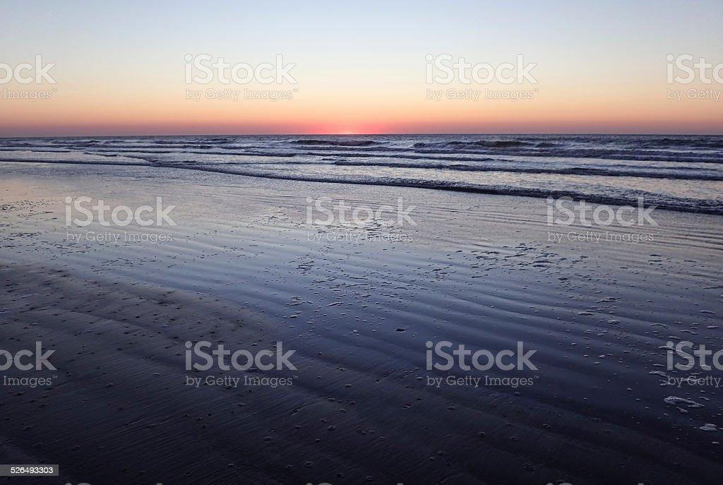 Moments before dawn on Kiawah Island, South Carolina stock photo