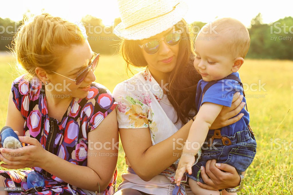 Mommies and me stock photo