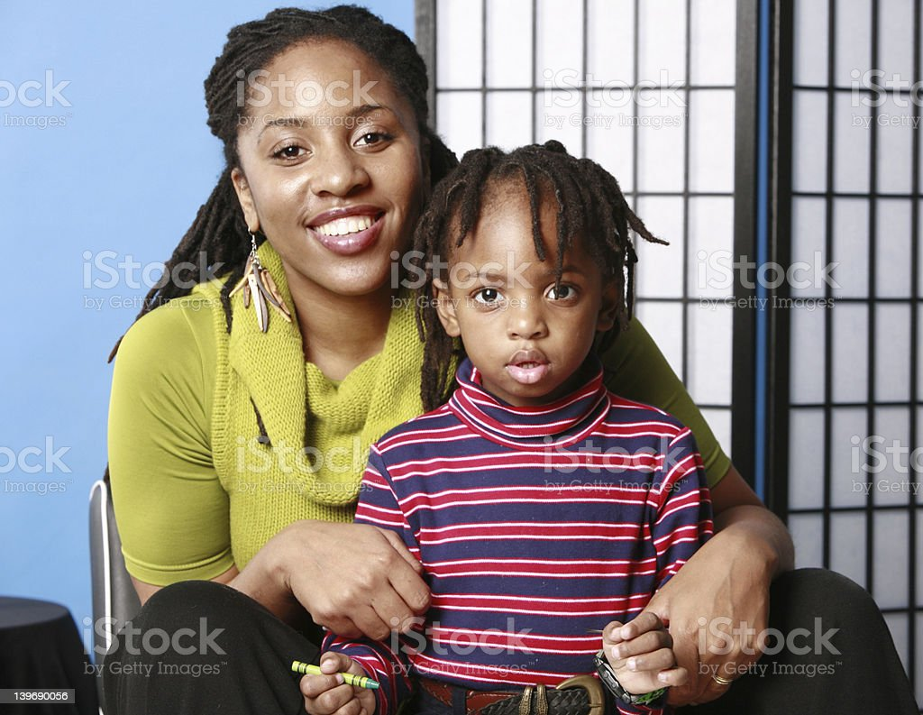 Mommy and cute son royalty-free stock photo