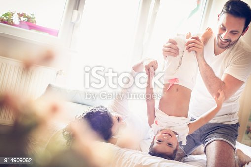 479612990istockphoto Mommy and daddy make me laugh every morning. 914909062