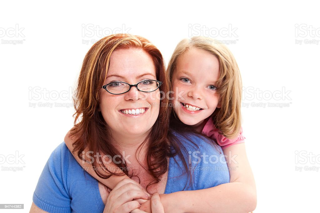 Mommy and Daughter Portrait stock photo