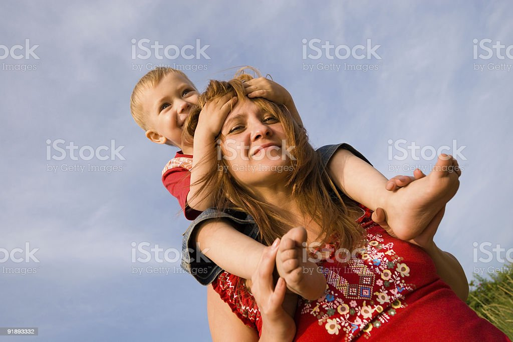 Mommy and son royalty-free stock photo