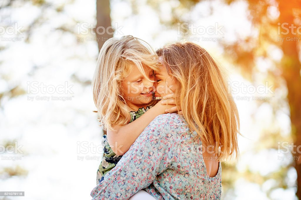 Mommy loves you kiddo stock photo