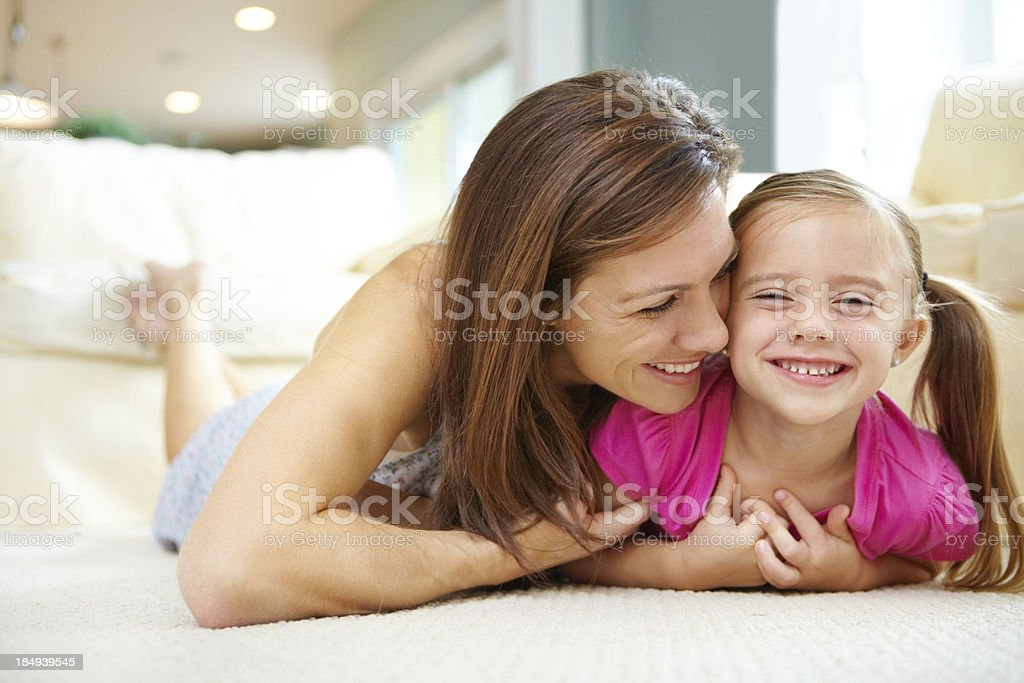 Mommy you're tickling me royalty-free stock photo