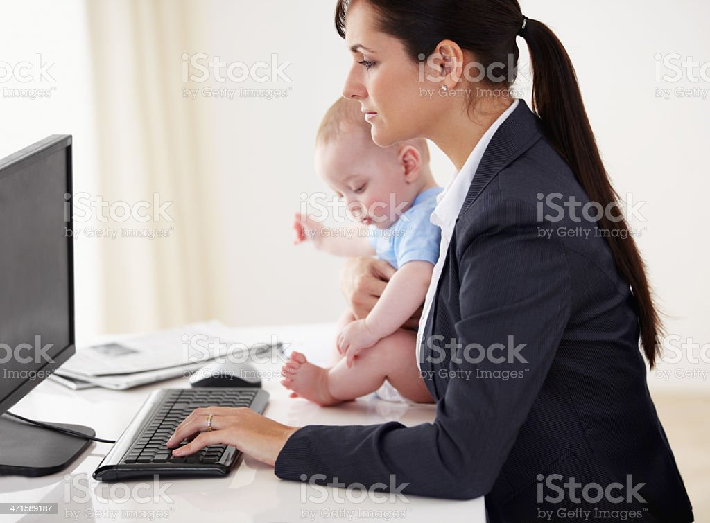 Mommy's got a job to do... royalty-free stock photo