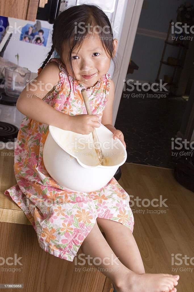 Mommy's Little Helper royalty-free stock photo