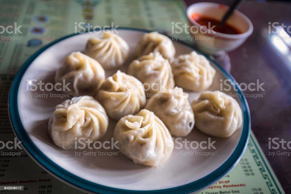 Momo dish India stock photo