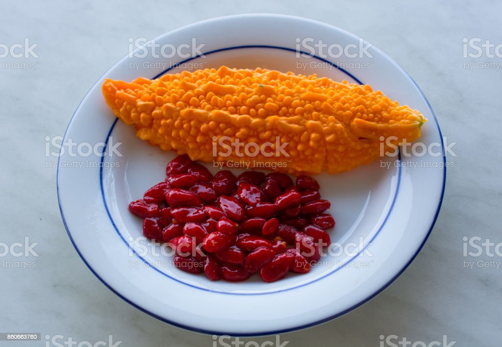 Momordica charantia stock photo