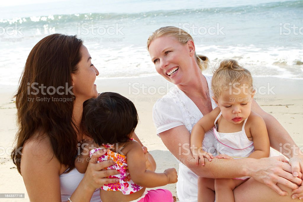 Moms and kids royalty-free stock photo
