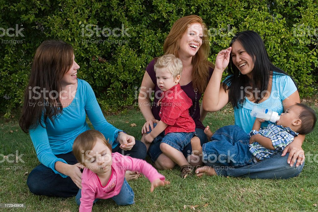 Moms group stock photo