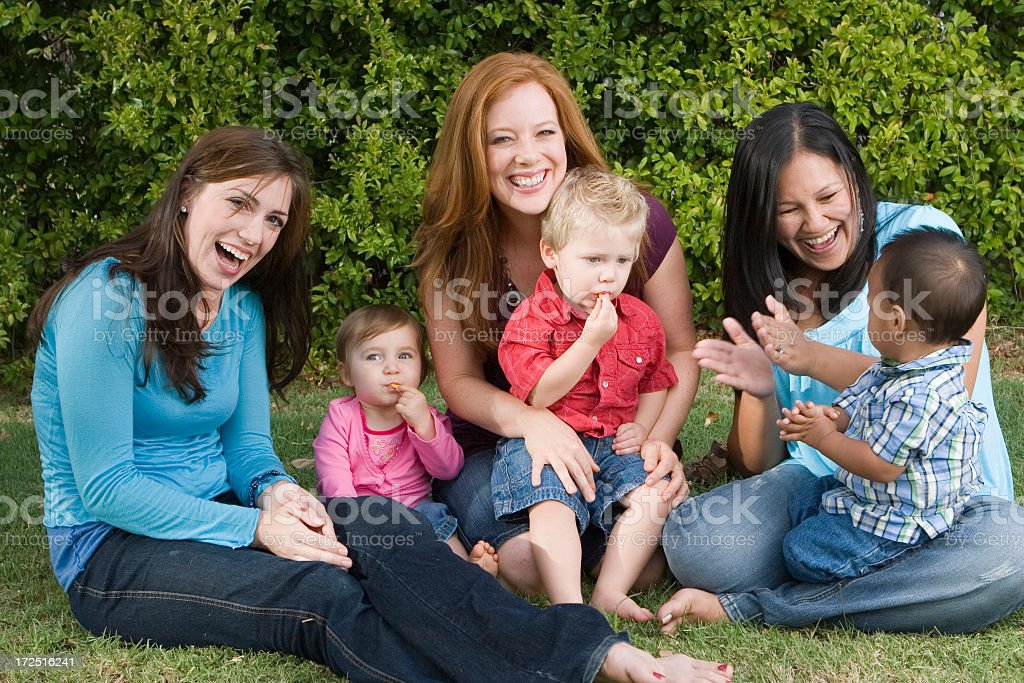 Moms hanging out royalty-free stock photo