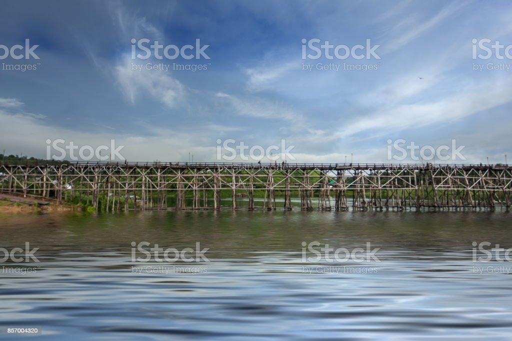 Mon Bridge, Sangkhlaburi stock photo