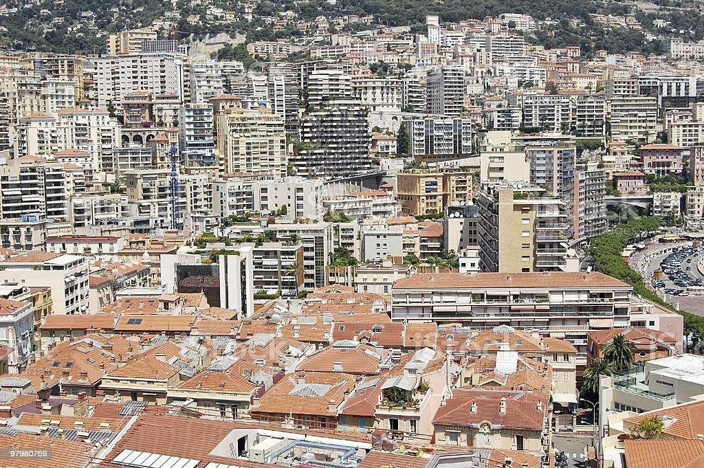 Monaco area view royalty-free stock photo