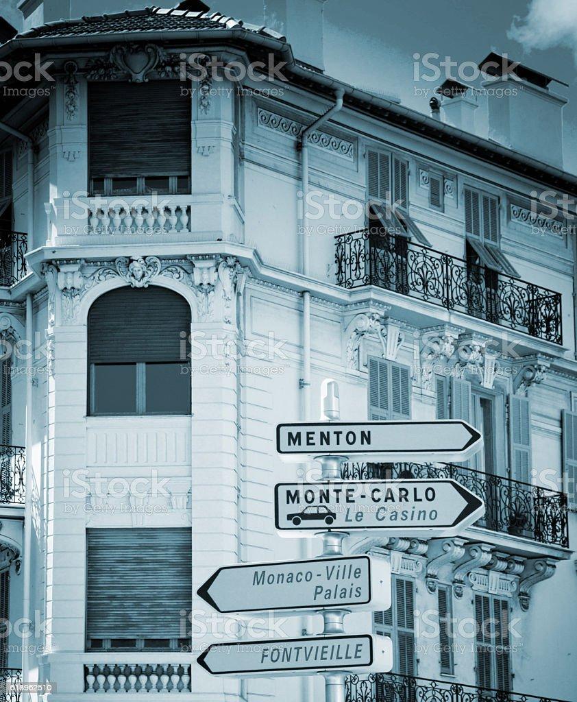 Monaco building stock photo