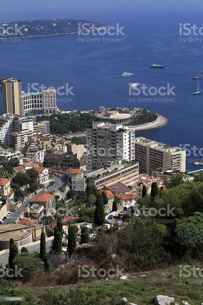 Monaco Coastal View royalty-free stock photo