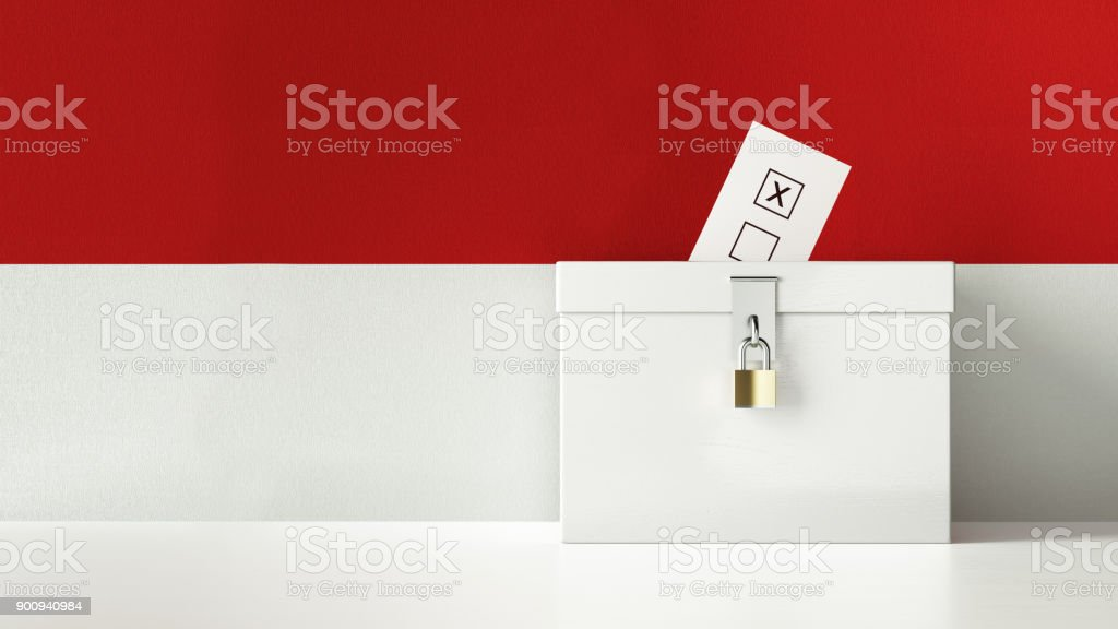 Monaco Elections Concept stock photo