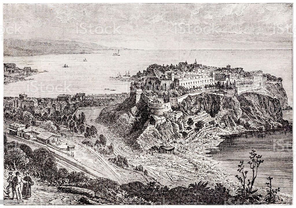 Monaco end 19th century stock photo