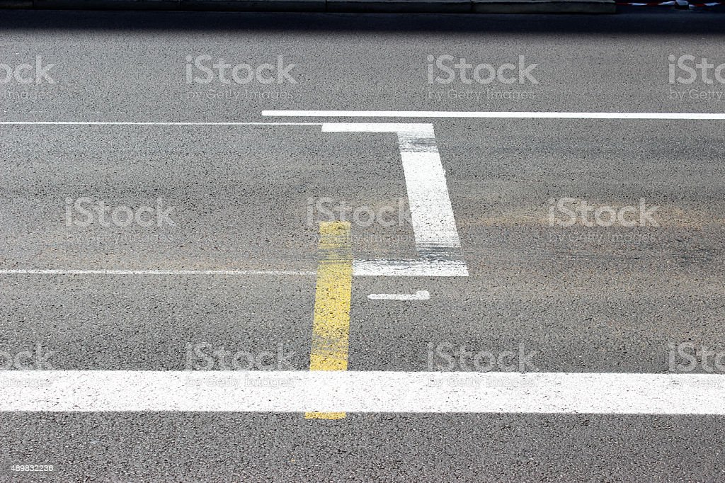 Monaco F1 Grand Prix Start and Finish line stock photo
