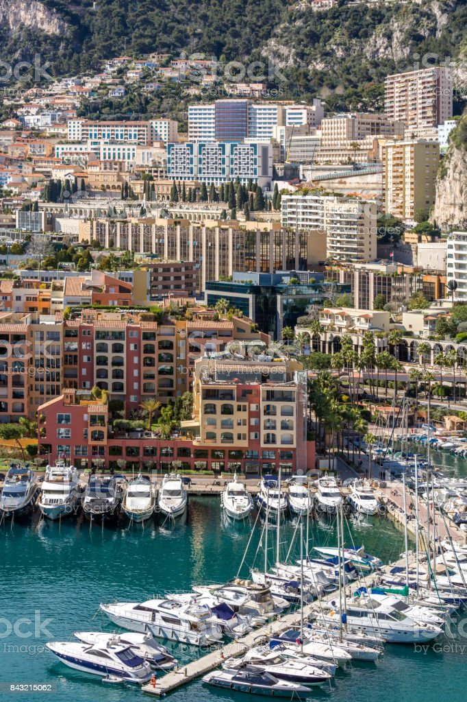 Monaco Fontvieille cityscape stock photo