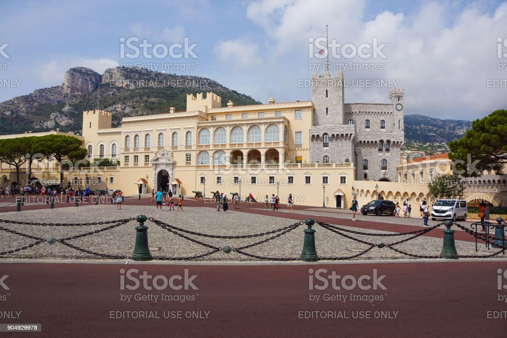 Monaco France 16 August 2017 : Prince's Palace of Monaco stock photo