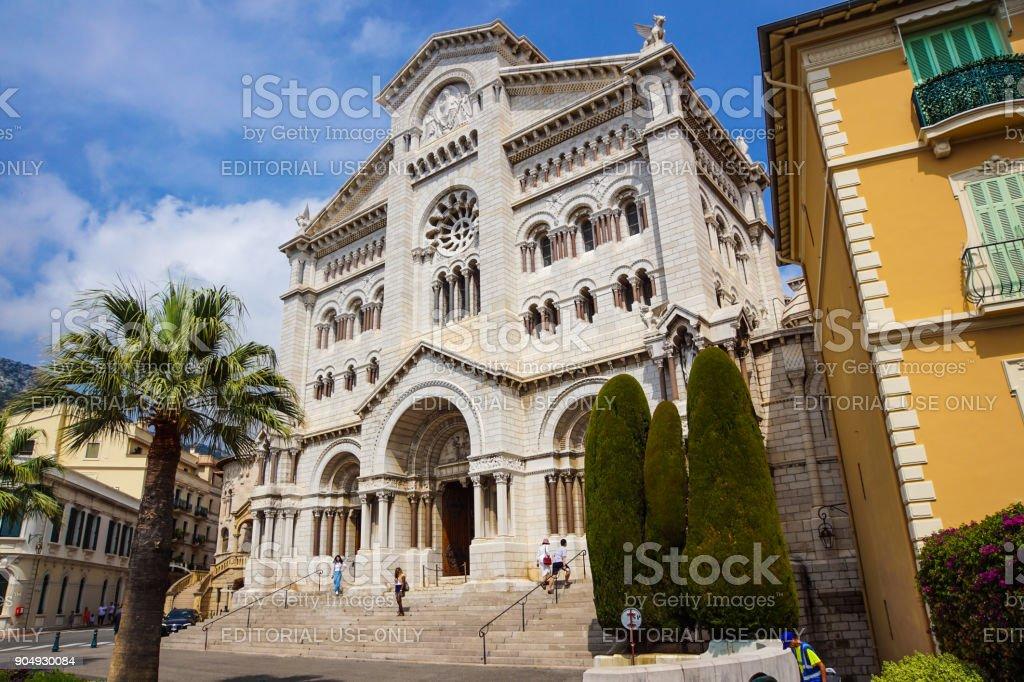 Monaco France 16 August 2017 : Saint nicholas cathedrale in Monte Carlo, Monaco. - foto stock