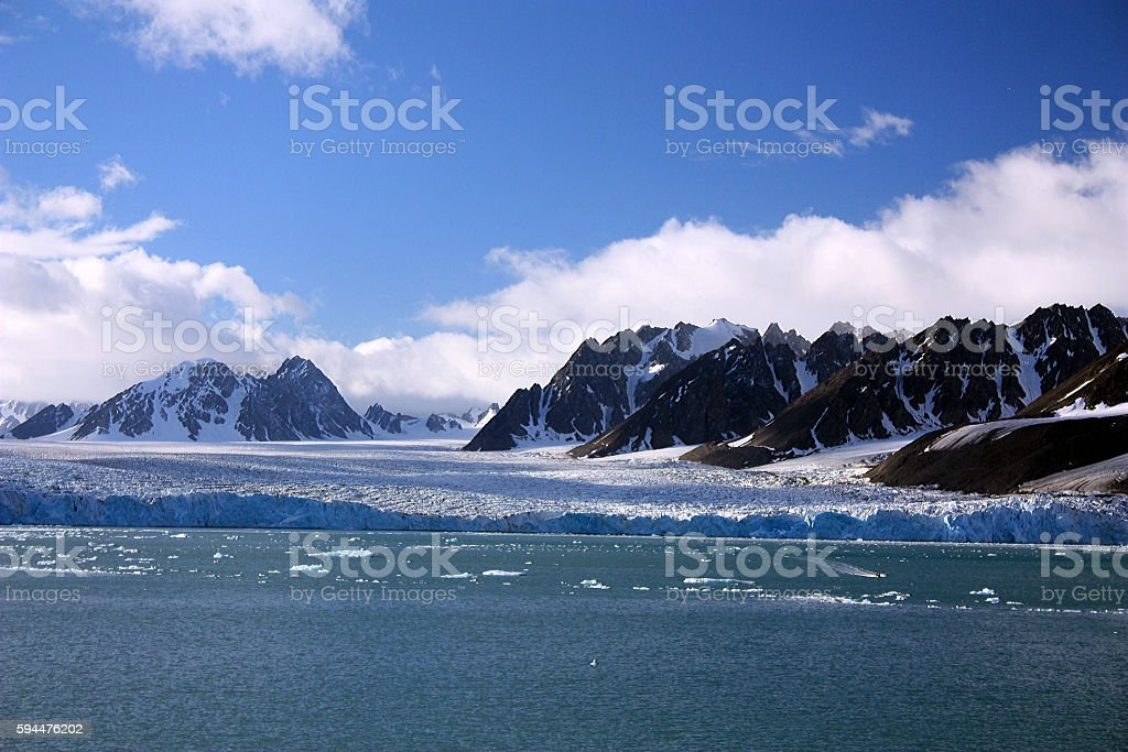 Monacogletscher- Spitzbergen stock photo