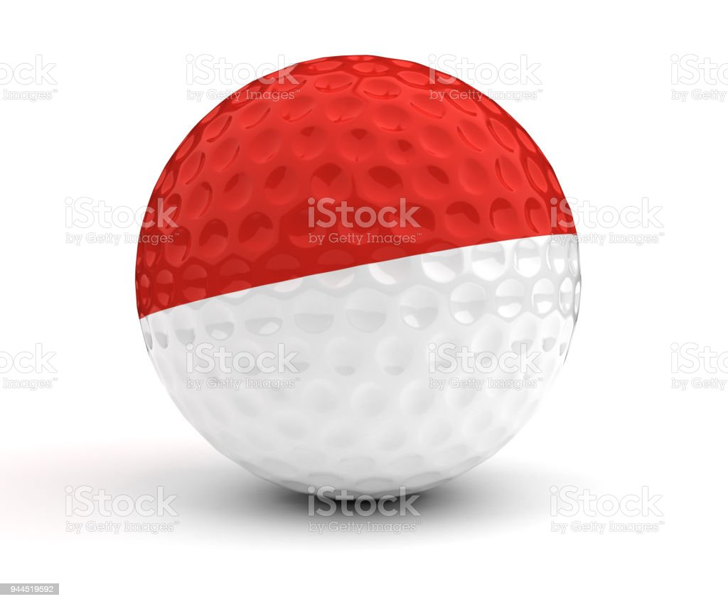 Monaco Golf Ball stock photo