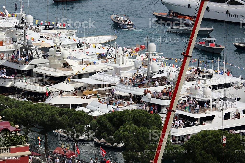 F1 Monaco GP 2016 From the Yachts stock photo