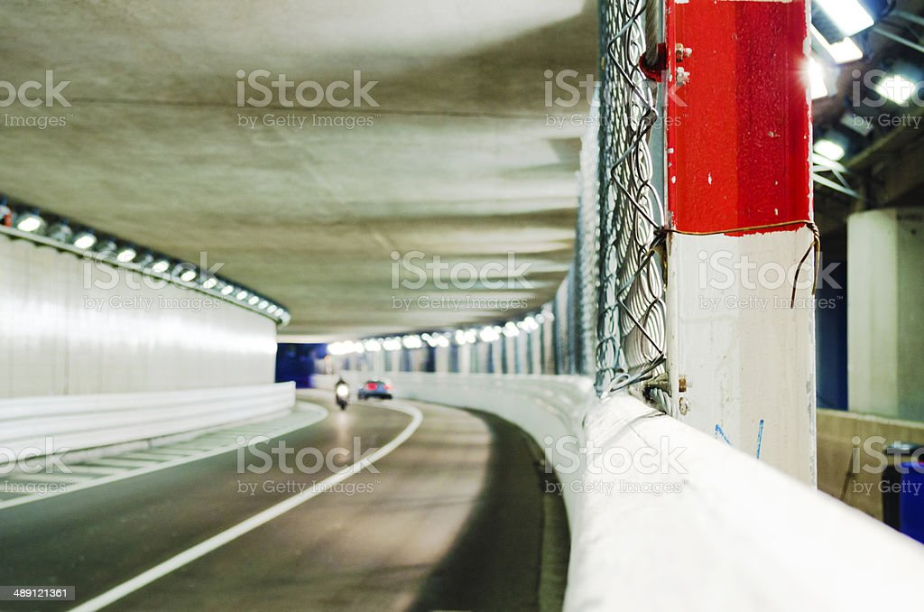 Monaco Grand Prix Tunnel stock photo
