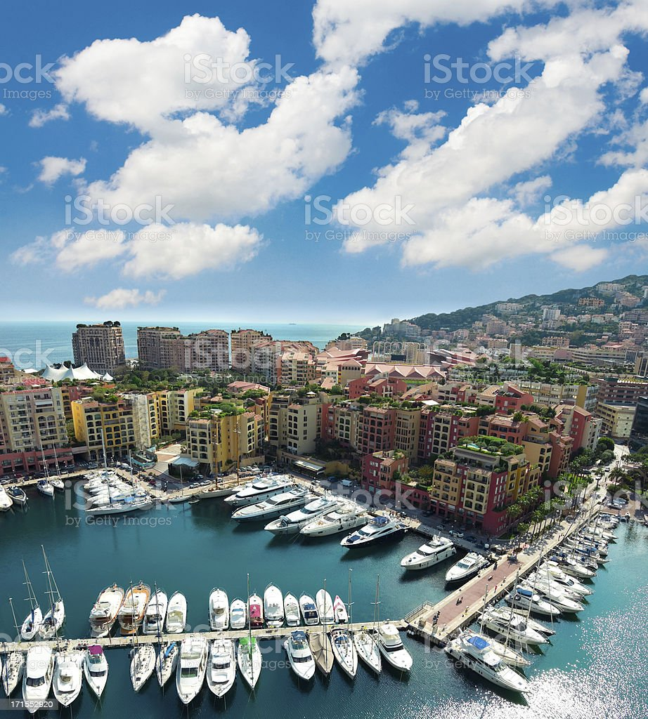 Monaco Harbor Scenic stock photo