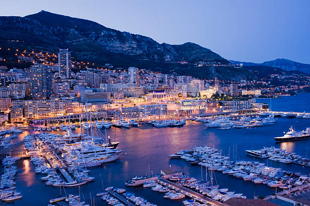 Monaco Harbour and Marina in Monte Carlo stock photo