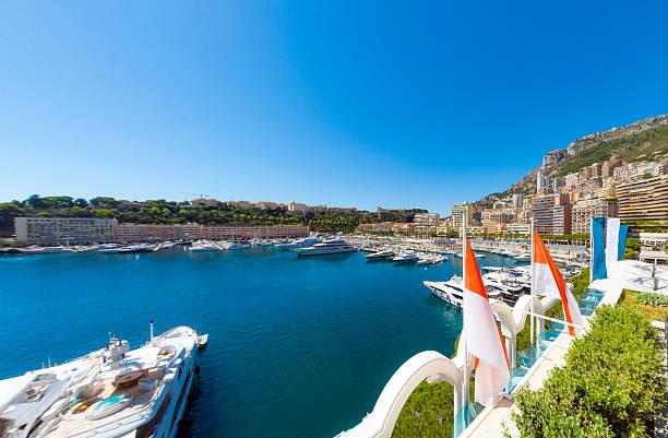 Monaco Harbour Marina Boats stock photo
