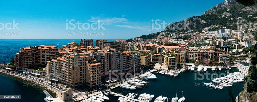 Monaco marina stock photo