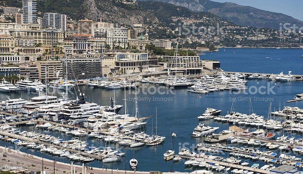 Monaco Monte Carlo Harbour Nikon D3 stock photo