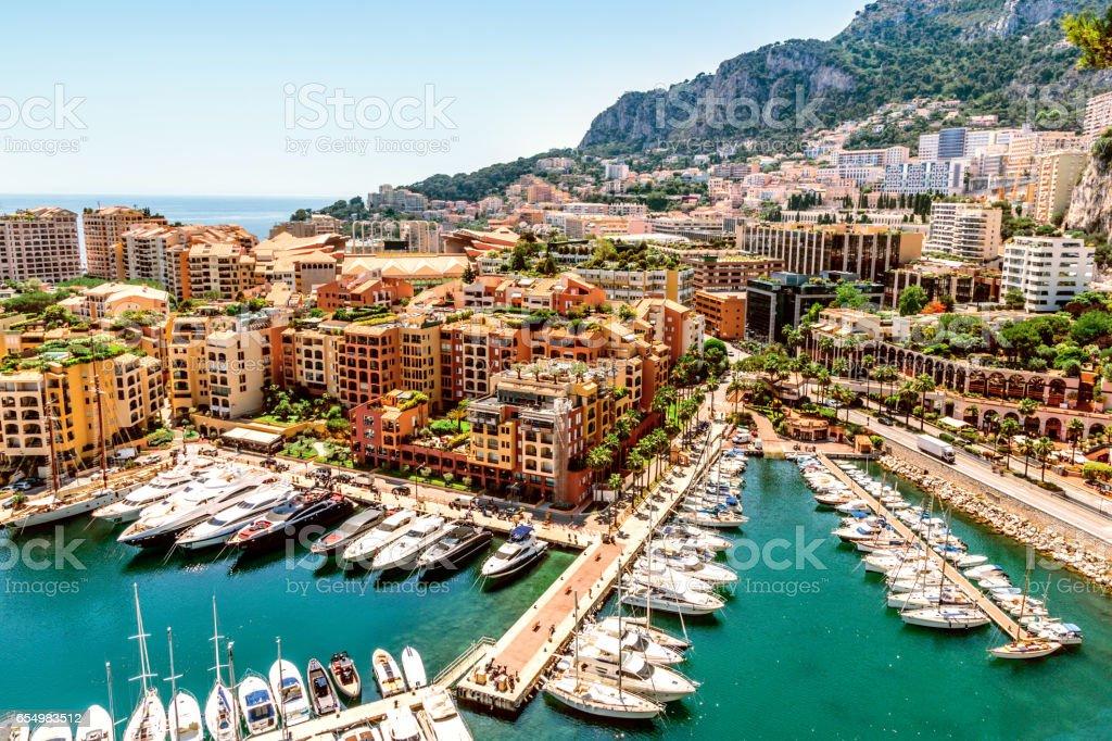 Monaco Monte Carlo sea view stock photo