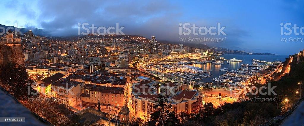 Monaco night royalty-free stock photo