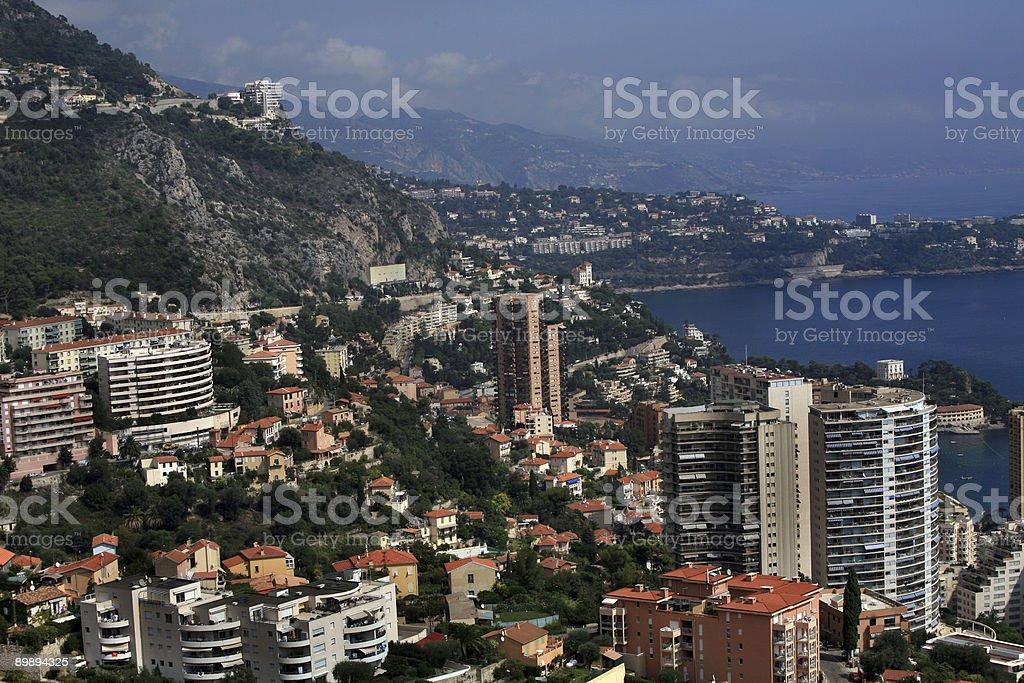 Monaco on French Riviera royalty-free stock photo