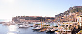 Panoramic view of the Principality of Monaco, shot from Monte Carlo